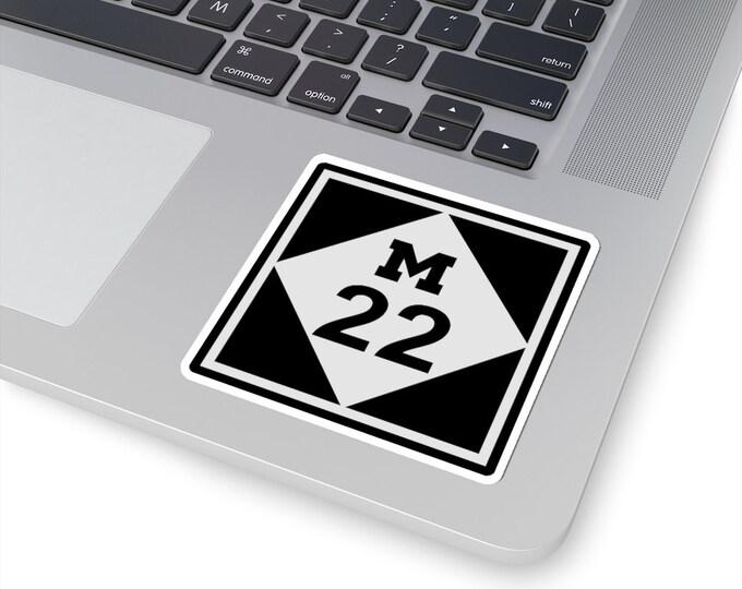 UpNorth Stickers - M22 (Michigan Highway Sign)
