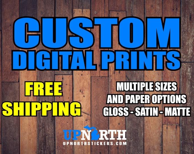Custom Photo / Poster Print - Large Format Printing - Free Shipping