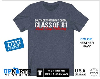 South Detroit High School - Don't Stop Believin - DTG Printed Soft Jersey T-Shirt
