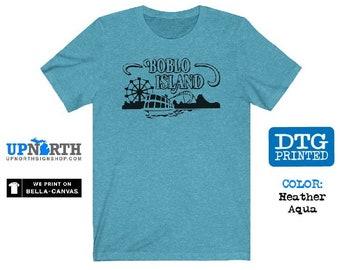 Boblo Island Amusement Park - Detroit Michigan - DTG Printed Soft Jersey T-Shirt