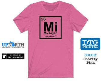 Michigan Element - MI - DTG Printed Soft Jersey T-Shirt