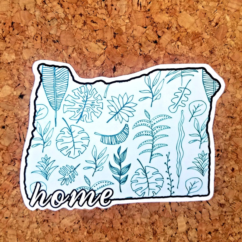 Great for Laptops and Water Bottles Oregon State Home Sticker