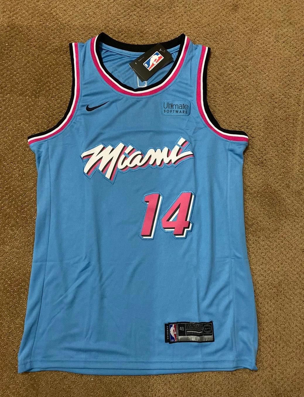 Tyler Herro Kentucky Miami Vice Heat Jersey Etsy
