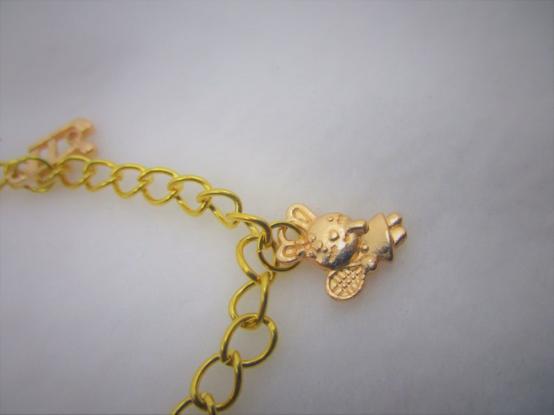 Gold Plated Chain Charm bracelet