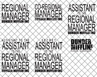 Dunder Mifflin Assistant to the Regional Manager SVG Dwight Schrute svg dxf eps pdf The Office INSTANT DOWNLOAD The Office Tv show svg