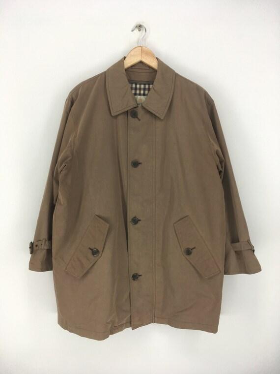 AQUASCUTUM LONDON Long Coats Xlarge Vintage 1990's