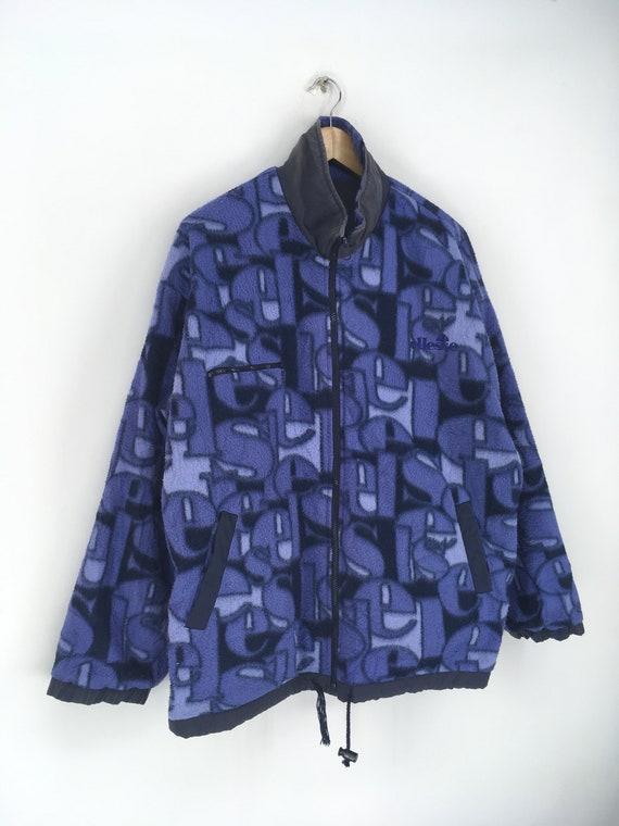 Vintage ELLESSE Fleece Jacket Xlarge 1990's Elles… - image 2