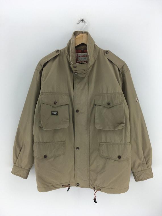 Vintage 90/'s MCGREGOR Jacket Medium Women McGregor Sportswear Beige Hoodie Jacket Cold Weather Casual Cotton Buttons Coat Size M