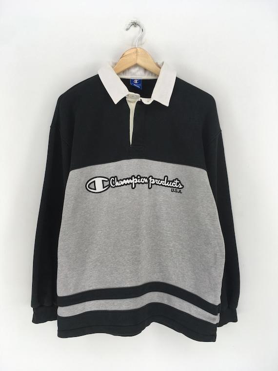 CHAMPION Polos Shirt Large Vintage 1990s Champion