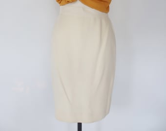 LOUIS FERAUD Vintage Pink Skirt Womens Draped Skirt Polyester Skirt High Waisted Skirt Cocktail Skirt Knee Length Skirt Small 26 Waist S