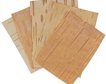 Bhoj Patra Bhoj-Patra (Betula Utilis Bark) Original Bhojpatra Sheet for Mantras and Puja Set Bhojpatra Sheet (5 in 1)