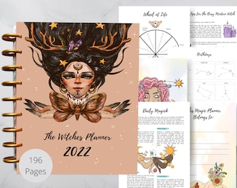 The most beautiful 2022 Witches planner - Witchy Planner Pages Bundle - Printable witches planner - Witch's planner printable