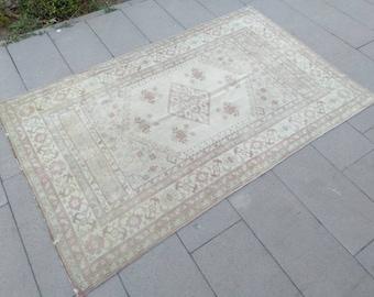 "4 x 6 oushak rug, 4'3"" x 6'6"" ft Vintage oushak rug, Small size rug, Turkish area rug, Vintage area rug, Turkish Anatolian rug, Wool rug"