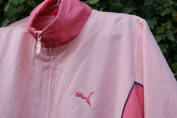 Puma Two-Toned Baby Pink Windbreaker