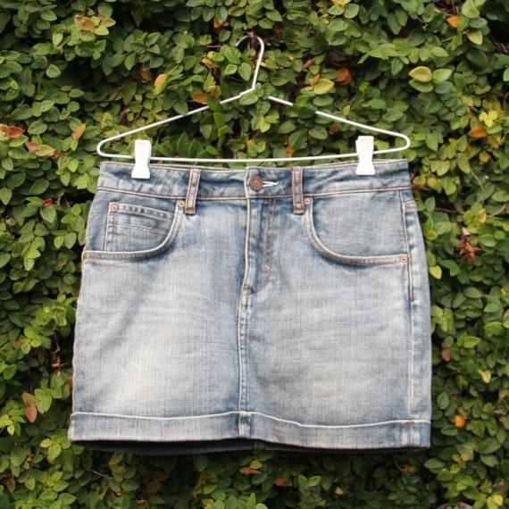 Adidas Originals Denim Mini-Skirt