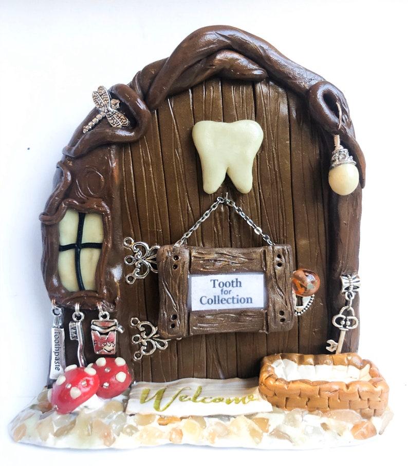 OOAK Tooth Fairy Door with basket image 0
