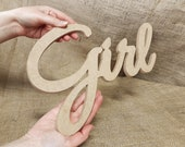 3D Wooden letters MDF,word girl Wood,3D custom name sign wooden,Unpainted wooden letters, Wooden signs decor,number wood
