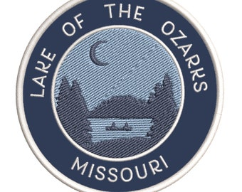 LOUIS ONE-WAY SIGN EMBROIDERED IRON-ON PATCH applique MISSOURI SOUVENIR ROAD ST