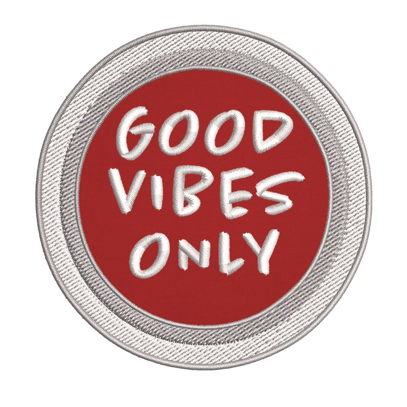 Good Vibes Only Embroidered DIY Iron onSew-on Decorative Patch Badge Emblem Appliques~Explore Wander Adventure Souvenir