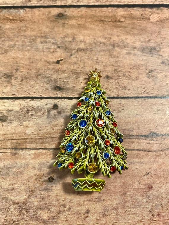 Vintage christmas tree brooch by ART, ART Christma