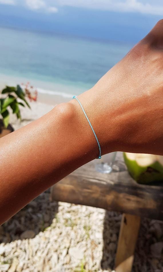 White String Bracelet For Men White Thread Surfer Bracelet White Silk String Bracelet Kabbalah Bracelet Protection Bracelet Minimalist Man