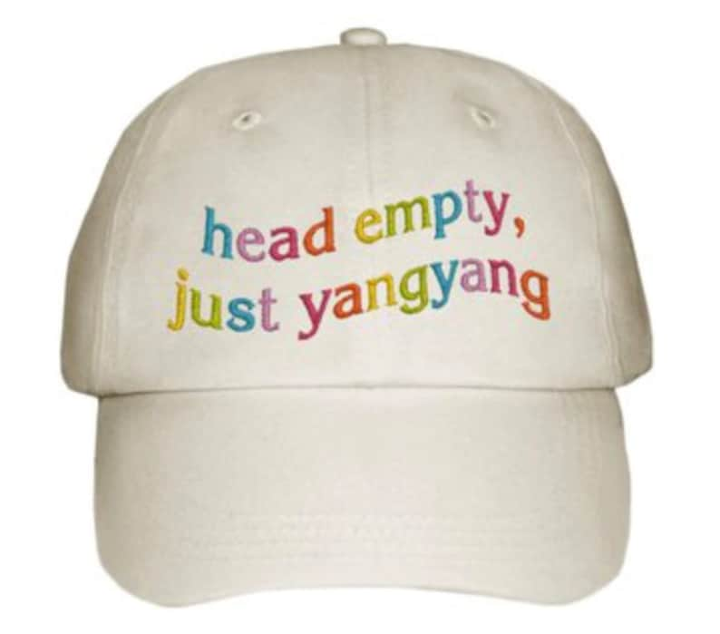 Head Empty Just Yangyang Embroidered Dad Cap