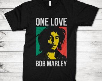 One Love T-Shirt Reggae Top Rasta RastafariTee