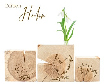 Spring decoration made of wood for home