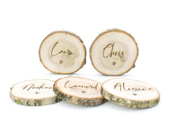 """Place wiser, place card, place card, name card """"tree disc"""""""