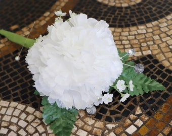 """Carnation Pick, Silk Carnation  Artificial Flower Heads for Weddings, 100 PACK , DIY Decor, 3.5"""" Carnation Heads with 5"""" Stems"""