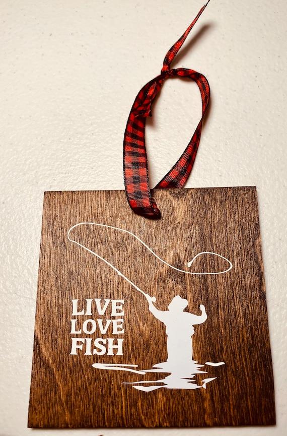 Love Fish Christmas Ornament