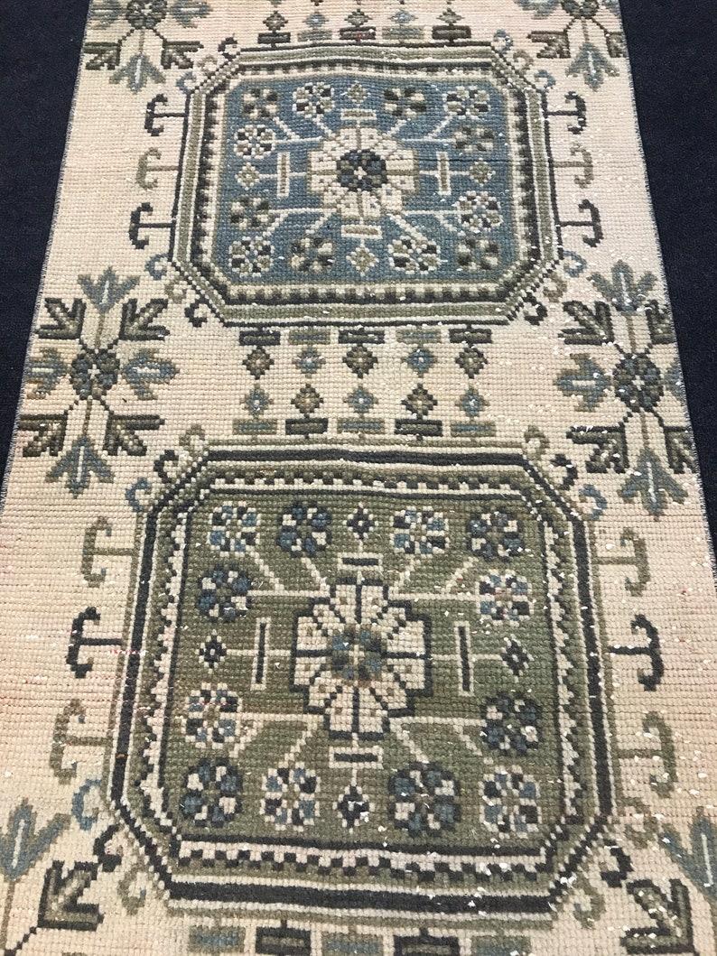 Anatolian rug,Oushak rug,V\u0131ntage rug,Runner rug,Bohemian rug,Handmade rug,Turk\u0131sh rug,Old rug,Pastel Rug,BohemianRug,Wool Rug 2.6 x 11.7 ft