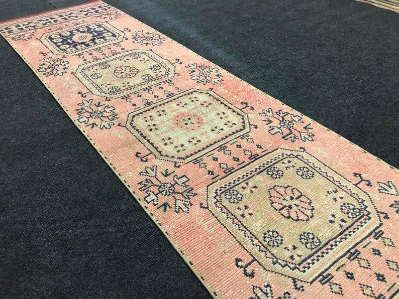 Anatolian Rug,Oushak Rug,Turk\u0131sh Rug,Vintage Rug,Old Rug,Natural Rug,Handmade Rug,Bohemian Rug,Runner Rug,Boho Rug,Area Rug 2.10 x 11.6 ft
