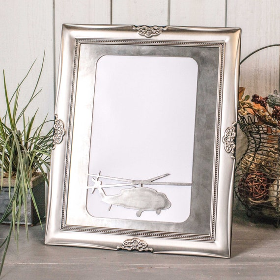 Metal Cut Frame Insert 8x10 Helicopter