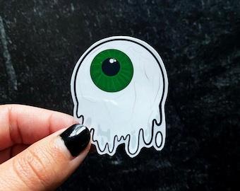 Melting Eyeball Sticker, handmade sticker, waterproof decal, water bottle decal, laptop decal