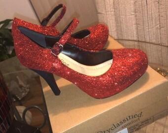 ruby red stilettos
