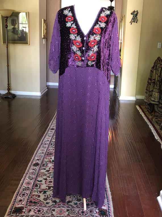 April Too! Hand Beaded Maxi Dress Under dress lini
