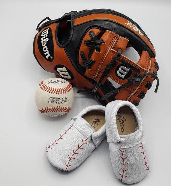 Baseball Moccasins Baby Moccasins