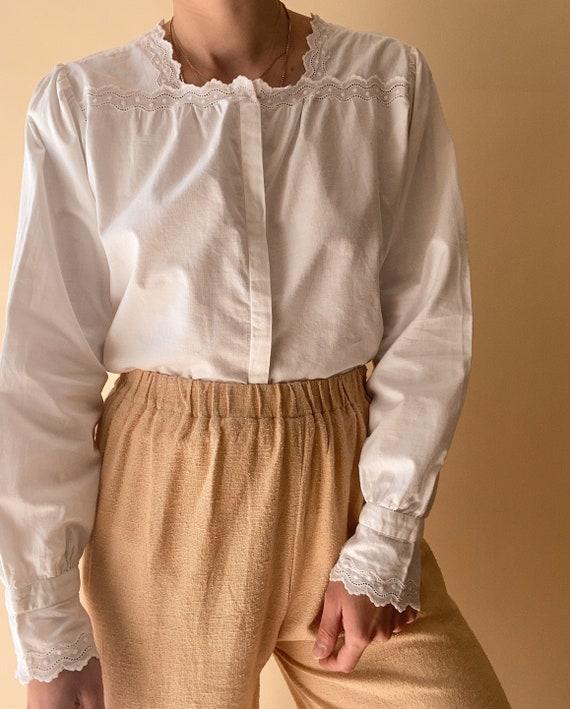 Vintage Antique White Blouse