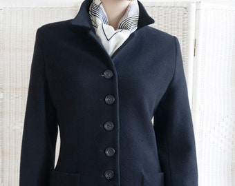 Fitted #jacket Weekend by Max Mara, #wool, black, #vintage 90's, size GB 10, size F 38, #winter