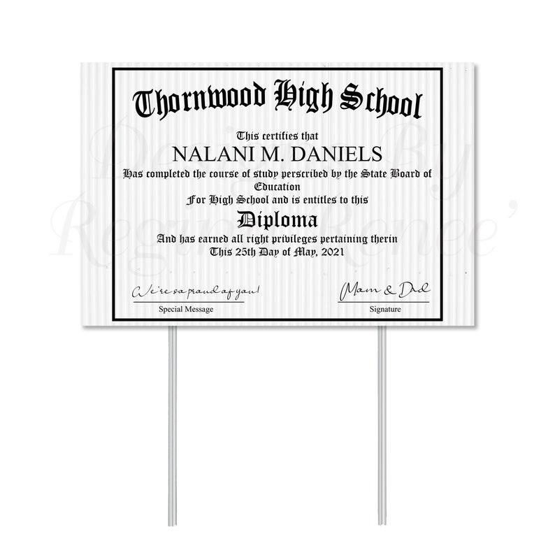 Diploma Graduation Gifts College Graduate High School Graduate Diploma Gifts Yard Signs Graduate Gifts Diploma Theme Yard Sign