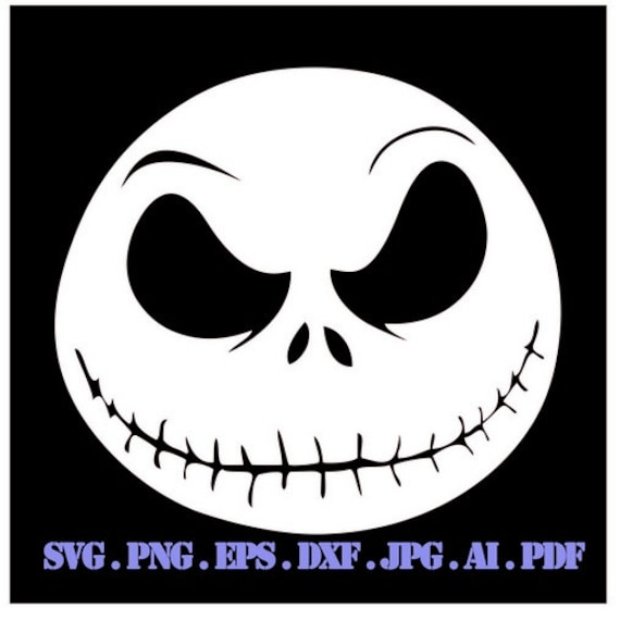 Jack Skellington Tim Burton Drawing Illustration Svg File For Etsy