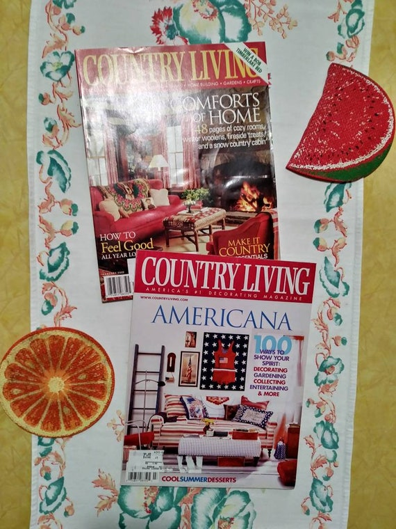 Vintage Country Living Decorating Subscription Magazines Etsy