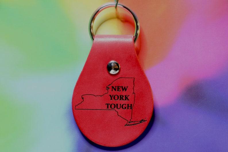 New York Tough Leather Keychain
