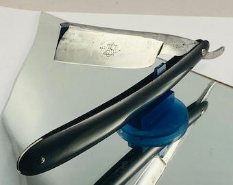 Vintage USA Made JR Torrey 6/8th Straight Razor Full Hollow Shave Ready Free Honing