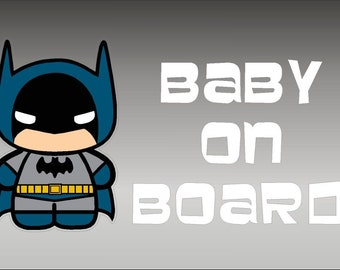 Baby Batman Love you to the Moon sticker