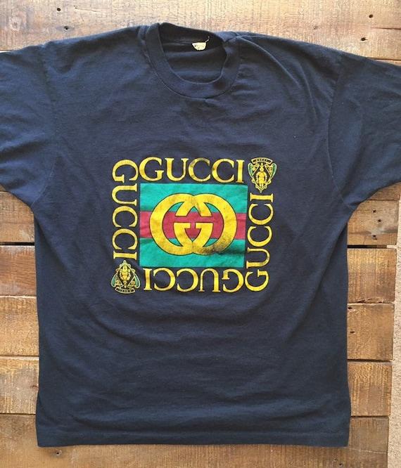 Vintage 1980s Gucci Logo T-shirt Men's size L