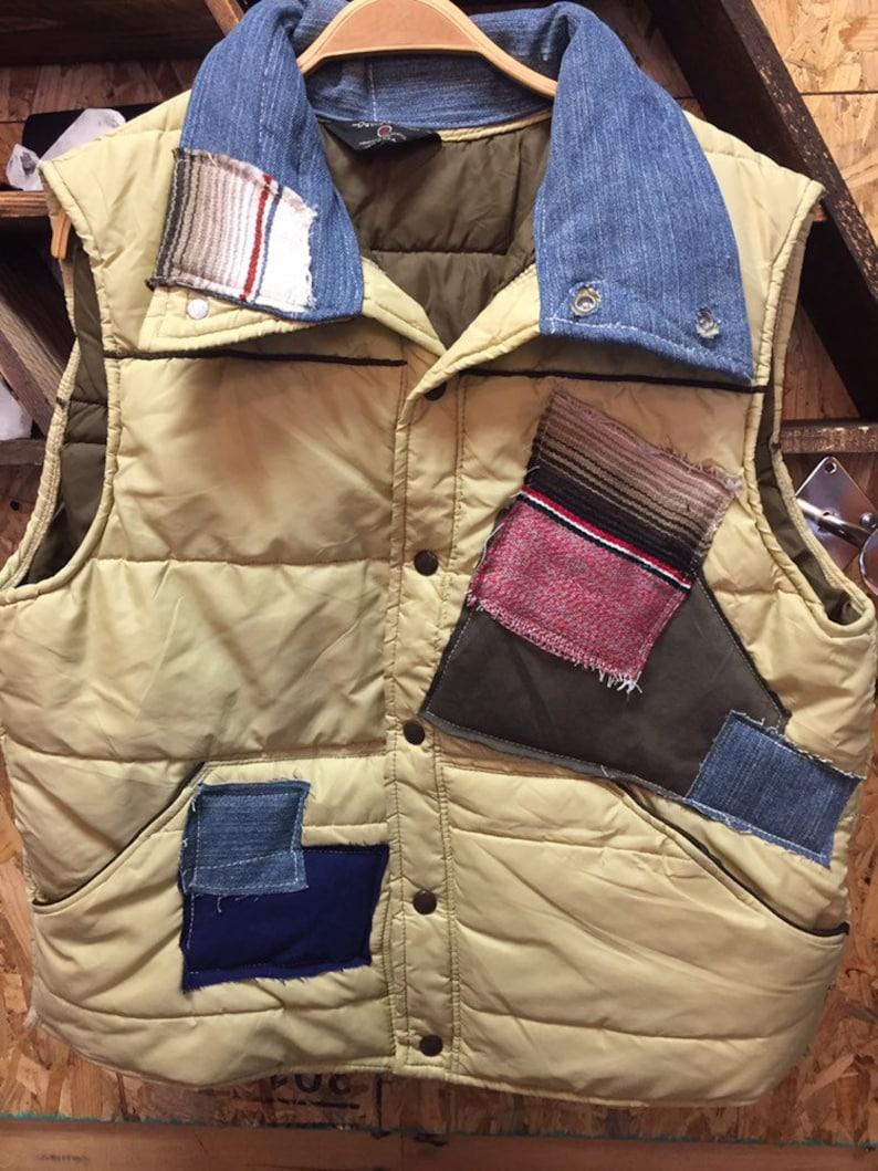 Men\u2019s 1970\u2019s Reconstructed Vintage Puffer Ski Vest