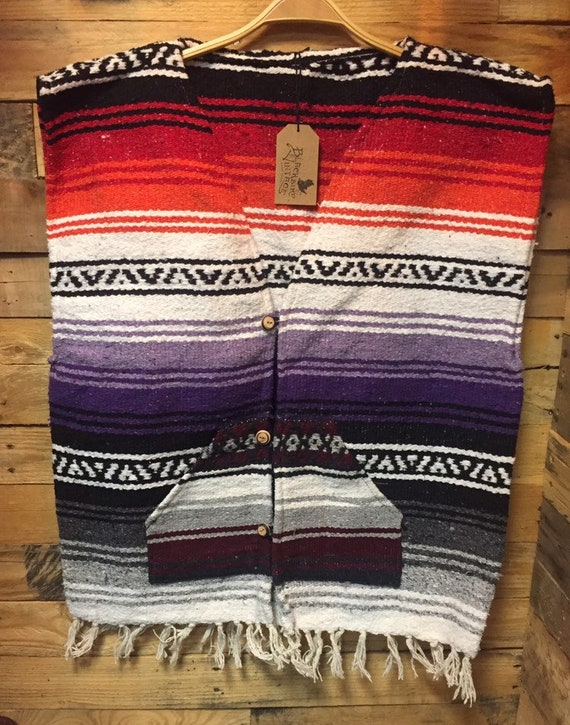 1970s New Old (Deadstock)  Mexican Poncho Serpico