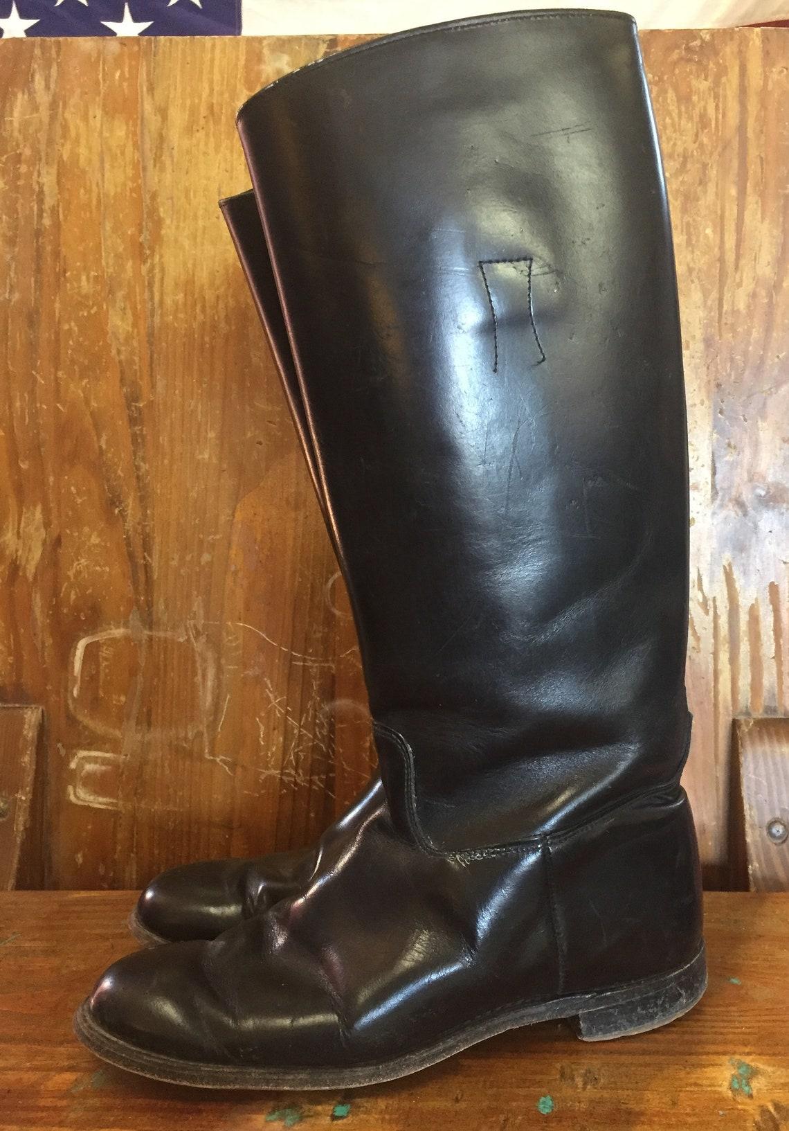 Ladies Vintage Black Equestrian Western Riding Boots Size 7c - Big Sale WhJ5x